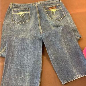Sergio Valente Blue Straight Leg Jeans 38x36